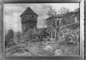 C. A. von Winkleri akvarell koduõuelt (1909, fotokoopia)