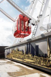 Tallinna Linnamuuseumi välinäitus Tallinna tornidest vaaterattal Skywheel