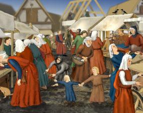 Raekoja platsi keskaegne turg. Autor Jaana Ratas